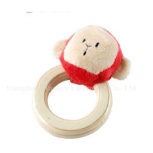 Factory Supply Baby Stuffed Plush Handbell Rattle Toy