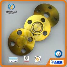 Bride aveugle d'acier au carbone d'ASME B16.5 A105 forgée avec le revêtement jaune (KT0214)