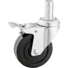 Medium Duty Round Stem Rubber Casters