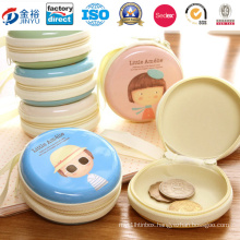 Zipper Round Shaped Coin Box for Coin Storage