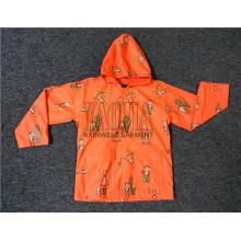 Veste imperméable imperméable pour imperméabilité pour enfants Orange Color PU