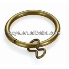 Wholesale favourable bearable round iron curtain ring for curtains