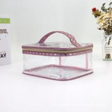 Travel Clear PVC Toiletry Bag Make Up Organizer Bag PVC Makeup Bag With Handle