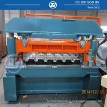 Machine de formage de panneaux de plancher en métal avec des rouleaux presseurs