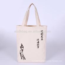 High Quality Eco-friendly Reusable Natural Canvas Cotton Shopping Tote Bag