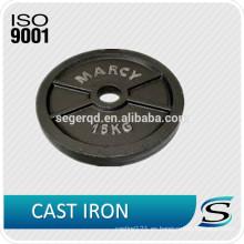 Placa de peso de hierro estándar de precio de fábrica