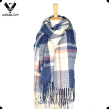 Hot Venda Tartan Plaid Knitting Cobertor Cross Stripe Scarf