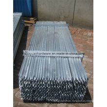 1.58kg/M Galvanized Y Post (star picket)