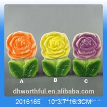 Colorido diseño de flores humidificador de aire de cerámica para la habitación