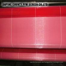 Poliéster caliente chino que forma la malla de alambre de la tela para la fabricación de papel