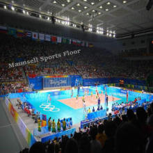 Cheap Indoor/Outdoor PVC Interlocking/Roll / Tile Volleyball Floor
