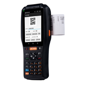 Qunsuo PDA-3505 Handheld Android PDA scanner dengan printer