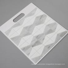 Kitchen Backsplash Mosaic White Mixed Gray GlassTile