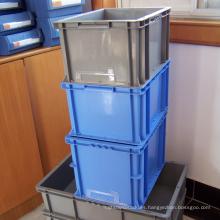 Caja plástica apilable del envase / de los PP del plástico para el transporte de las mercancías