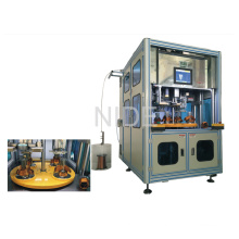 Quatro estação de trabalho Automatic Stator enrolamento e bobina Inserindo máquina