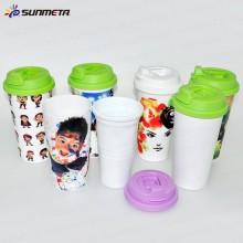 FreeSub Sublimation Printing Plastic Double Wall Mug