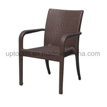 Leisure Outdoor Aluminum Tube Frame with PE Rattan Dining Chair (SP-OC818)