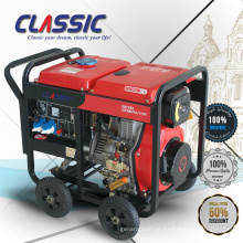 CLASSIC CHINA 3KVA Trifásico Gerador Diesel 3kva Com Preço, 3000 Watts Trifásico Armação Aberto Ar-refrigerado Gerador Diesel
