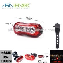 500MAH Li-polímero fuente de alimentación de la batería 15 horas de iluminación de plástico 100 Lumen 5 SMD USB LED de ciclo de venir