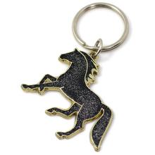 Personalized Custom Metal Glitter Powder Horse Keyring Key Chain