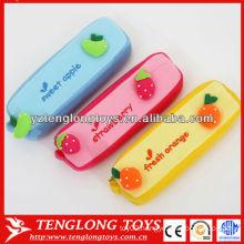 New design fruit style cute plush pencil case for children