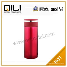 2012 nouveau type tasses sous vide de couleur rouge en acier inoxydable