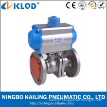 China Manufactory KLQD Brand Big Size Flange Type Pneumatic 4 Inch Ball Valve