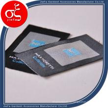 Оптовые продажи тканых этикеток на футболках, пользовательские этикетки для одежды для джинсов / футболок