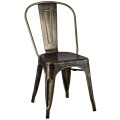 Silla Tolix Gold Outdoor Metal Old Aging Design