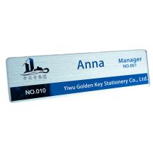custom Plating sublimation personalised medical name plate badge pins  nurse maker magnetic holder design