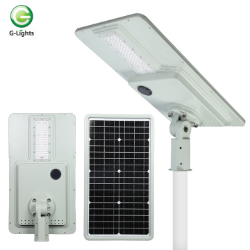 Smart senor ip65 40w integrado solar levou luz de estrada