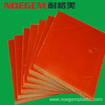 Orange bakelite plastic sheet