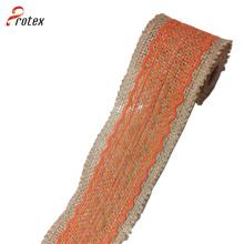 Burlap Ribbon Central Lace