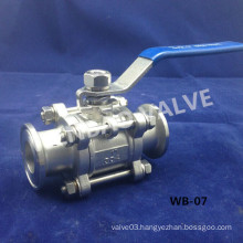 """China Stainless Steel Clamp Sanitary Ball Valve 1"""" 304 Factory"""
