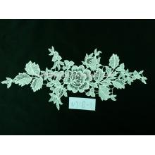 Fábrica chinesa de sdales direto moda tecido de renda branca