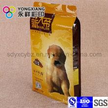 Bolso de fondo plano personalizado para alimentos para mascotas / comida para perros