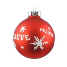 Artdragon DIY Hanging Hand Blown Clear Borosilicate Bubble Glass Christmas Heavy Duty Ball Ornaments