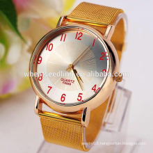 Valentines gift 4 colors gold plated men's yiwu watch
