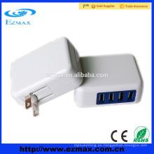 Cargador de usb de la pared del uso del teléfono móvil 4 USB