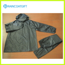 2PCS 100% Polyester PVC Rainsuit Rvc-171