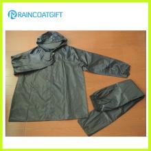 2PCS 100% Poliéster PVC Rainsuit Rvc-171