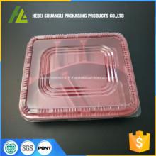 contenants en plastique pour compartiments alimentaires jetables