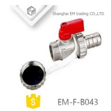 EM-F-B043 Mini distributeur de vannes de radiateur en laiton nickelé pour gaz