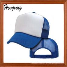 Chapéu de basebol de malha de moda branca com seu logotipo