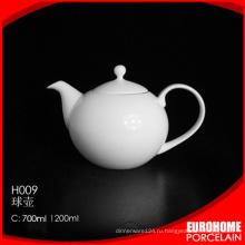 Питание Античная белая покрытием керамический чайник / фарфор кофе горшок