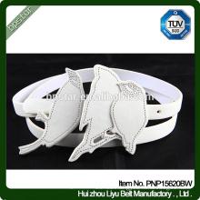 PU Women Belts White Casual Straps for Female Dress Cinch Cintos Designer Brand