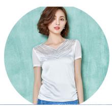 Fashion Chiffon Women T Shirt Hollowing Beautiful