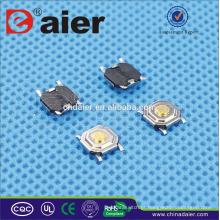 Daier KFC-004A 5.2 * 5.2 4PINS Interruptor Tact Curto Pé