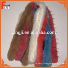 Bandes de fourrure de renard véritable teint de qualité supérieure