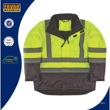 Isolierte High Vis Jacket Sicherheit Workwear Jacke